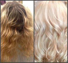 Matrix. Осветление корни lm 1:2 с 3% , длина lm 1:5 с 3% , тонирование Spgv+Spa (40+10гр) Matrix Formulas, Matrix Color, Beauty First, Ash Blonde, Hair Coloring, Hair Color