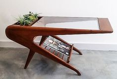 Mid Century Mid-Century Sculptural Walnut Coffee Table in Antiques, Periods & Styles, Mid-Century Modernism | eBay