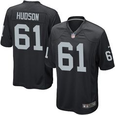 ce006c358 Nike Game Rodney Hudson Black Men s Jersey - Oakland Raiders  61 NFL Home