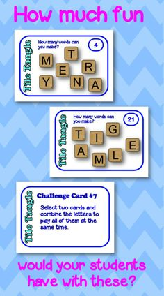 Tile TangleTask Cards - perfect for a literacy center or a break from test prep! Includes 7 challenge cards and 4 student response sheets for differentiation. So. Much. Fun! $