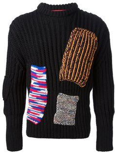 Raf Simons Sterling Ruby Patchwork Sweater - Stijl - Farfetch.com #FarfetchFairytale