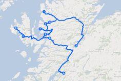 Planning a road trip mit Google Maps !