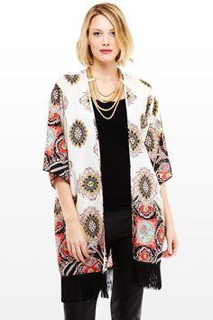 Fringed Kimono Top Fashion to Figure