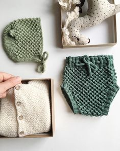 Pretty Hand Knitted Baby Bonnet, Cardigan & Bloomers | Velvetknit on Etsy