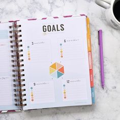 SNEAK PEEK: You girls know how much I love goal setting. Seeing you achieve your goals makes me so happy so I'm thrilled with this brand new page in our planners! We'll be taking those yearly goals and breaking them down into quarterly sections. When you set smaller milestones you have a much better chance at crushing that big yearly goal! #IWPlaunch2016  Oh and yes this is in both the bound liveWELL and the A5 inserts! by inkwellpress