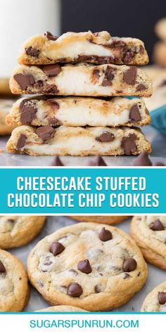 Perfectly soft and chewy cookies with a fun surprise! These Cheesecake Stuffed Cookies combine two incredible desserts into one treat. They're easy to make and I'll walk you step-by-step through the process in my how-to video! Cookie Desserts, Easy Desserts, Delicious Desserts, Dessert Recipes, Yummy Food, Awesome Desserts, Homemade Cookies, Yummy Cookies, Drop Cookies