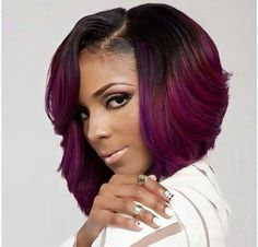 bob hairstyles african american relaxed hair Ombre Bob Red Wigs For Women Wig Natural Synthetic Hair Short Bob Hairstyles, Weave Hairstyles, Black Hairstyles, Bob Haircuts, Celebrity Hairstyles, Hairstyles Pictures, Wedding Hairstyles, 2015 Hairstyles, Trendy Hairstyles
