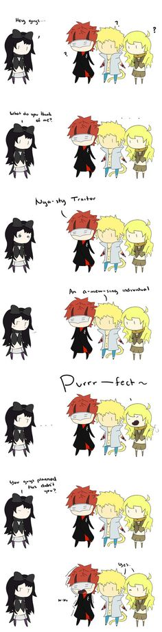 Blake, Sun, Adam and Yang Moment by UrsaJr.deviantart.com on @DeviantArt