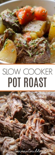 This slow cooker pot roast is the ultimate comfort food, and is a crowd pleaser! Filling, fulfilling, and an easy recipe that tastes like heaven! #food #recipe #easyrecipe #easymeals #dinner #slowcooker #crockpot #potroast #comfortfood Best Crockpot Recipes, Crock Pot Recipes, Pork Recipes, Cooking Recipes, Healthy Recipes, Freezer Recipes, Game Recipes, Savoury Recipes, Family Recipes