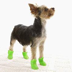Blue/Pink/Black/Yellow/Purple Waterproof Plastic Socks & Boots For Dogs – HKD $ 60.74