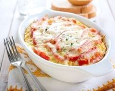 This hearty casserole is loaded with favorite cheeses and veggies. Serve up with healthy dish for your family dinner. Healthy Dishes, Healthy Eating, Healthy Recipes, Polenta, Musaka, Veggie Casserole, My Best Recipe, Vegetable Recipes, Couscous