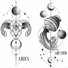 Tattoo Now, Sternum Tattoo, Zodiac Art, Zodiac Signs, Blackwork, Ozzy Tattoo, Zodiac Tattoos, Tattoo Stencils, Graphic Design Posters