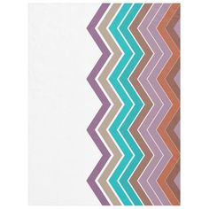 Zigzag Tropical Colors Fleece Blanket