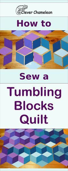 How to sew Tumbling Blocks patchwork tutorial