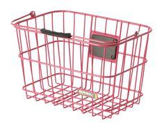 Pink bicycle basket