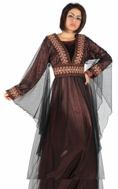 Aljalabiya.com: Jalabiya with belt on chest and back (with embroidery on chest and cuff) (WN-698) $174.00
