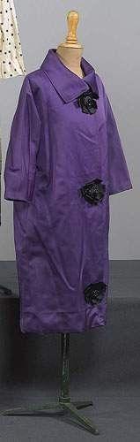 BALENCIAGA, haute couture, n 61606, Hiver 1957 - Manteau de cock