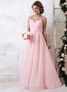 robes de demoiselle dhonneur 15376 forme princesse col v longueur ras du - Robe Rose Poudre Mariage