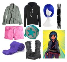 Ramona Flowers Outfit by lilly-stardust on Polyvore featuring polyvore fashion style Glamorous G1 Dr. Martens Puerco Espin Little Joule