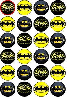 Crafty image pertaining to batman cupcake toppers printable