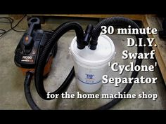 I made a swarf / dust 'cyclone' separator in about 30 minutes to go in front of the vacuum in the shop. This way I stop filling up expensive bags (I like bag. Dust Collector, Diy Workshop, Wood Lathe, Diy Tools, Vacuums, Ragnar, Woodworking Tools, Youtube, How To Make