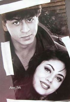 Vintage photo of SRK and wife Gauri