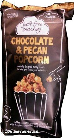 Marks & Spencer Guilt Free Snacking - Chocolate & Pecan Popcorn multipack