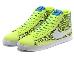 Cheap 316664 700 Nike Blazer MID green women shoes