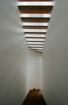 this is an excellent way to get light into a stairwell .. great design