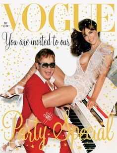 Vogue it with Liz & Elton  Awesome cover one of my Favourite covers (by Mario Testino) for British Vogue!