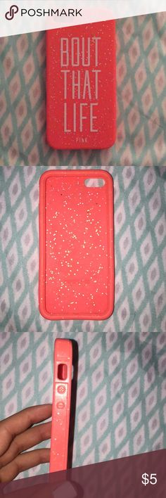 PINK iphone 5/5s phone case i used this case once so it's in pretty good condition. it's silicone PINK Victoria's Secret Accessories Phone Cases
