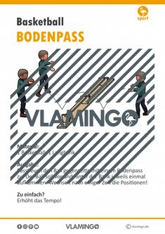 Basketball Übung - Bodenpass (Stationskarte)