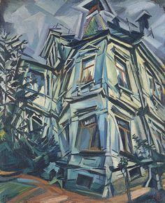 Ludwig Meidner (German, 1884-1966), The Corner House (Villa Kochmann, Dresden), 1913. Oil on canvas, 97.2 x 78 cm.
