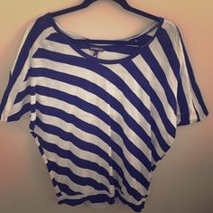 Express striped top Baggier around arms but tighter around waist Express Tops Tees - Short Sleeve