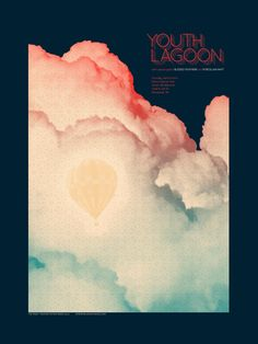 Youth Lagoon / Blessed Feathers / Porcelain Raft. Poster design: Paloma Chavez (2012).