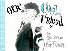 "One Cool Friend by Toni Buzzeo, Illustrated by David Small. ""Energetic line and dizzying perspective combine for a rollicking tale of Father, Elliot, and a highly improbable pet (or two).  (A 2013 Caldecott Honor Book)"" -Ala.org"