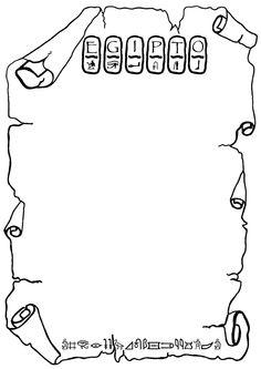 Ficha, plantilla, marco, para escribir. Proyecto Egipto                                                                                                                                                                                 Más