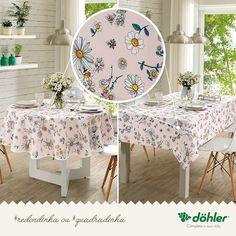 e977824aca74 Toalha de mesa redondinha ou quadradinha? A Döhler tem o tamanho certo para  a decoração