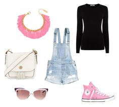 """#pink"" by emirica ❤ liked on Polyvore featuring H&M, Oasis, Converse, BaubleBar, Tory Burch and Yves Saint Laurent"