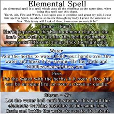 Elemental Spell. Can be used for many different intents, depending on the herbs.