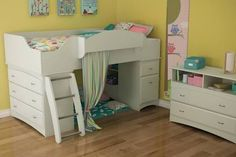 girls loft beds with storage - Google Search