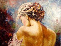 Купить Картина маслом Нежность - картина маслом, картина для интерьера, картина в подарок, интерьер, девушка