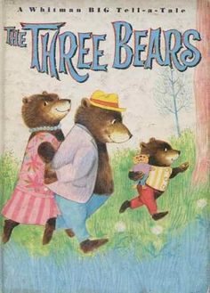 """""""The Three Bears"""" Recycled Book Journal. Just $14. All Golden Books include the entire text included with the finished journal. Also? Bonus!!! I will, upon request, make a video of me reading ANY golden book to you and post said video to YouTube. Just make a note in checkout page. Here's a link to the Golden Book section of our website: http://bookjournals.com/journals/little-golden-books Love, Jacob"""