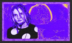 Layne with the electric purple moon