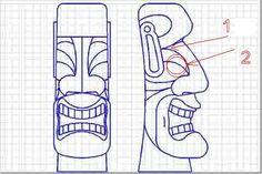 tiki carving pattern guide