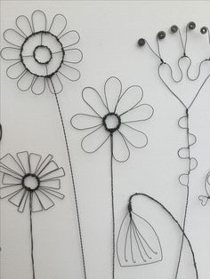 Hand formed wire flowers