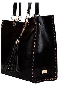 Cartera Negra Prüne - Diy Tutorial and Ideas Tote Handbags, Purses And Handbags, Leather Purses, Leather Handbags, Sacs Design, Black Wallet, Leather Bags Handmade, Best Bags, Cute Purses