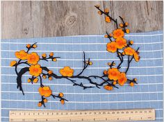 Embroidered Lace Patches Applique Embossed Sewing Accessories for Women Cloth,Jeans Patch, Royal Blue Roses Flower Applique Huge Patch ★MATERIAL Cotton,polyester fibre ★MEASUREMEN 39 cm x 19 cm ★QUANTITY This listing is for 1 Pcs All the lace are perfect for lingerie, bra, dresses,