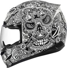 Read More About ICON - Airmada Chantilly Full-Face Motorcycle Helmet - Icon - NonExclusiveBrands Full Face Motorcycle Helmets, Custom Motorcycle Helmets, Custom Helmets, Motorcycle Gear, Motorcycle Accessories, Bike Helmets, Women Motorcycle, Icon Helmets, Pink Motorcycle