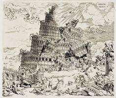 La destruction de la tour de Babel.  Cornelisz Anthonisz. (Amsterdam, vers…